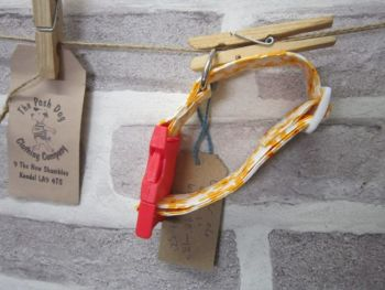 Handmade Posh Dog Collar 017 - adjustable fabric collar