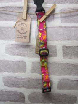 Handmade Posh Dog Collar 003 - adjustable fabric collar