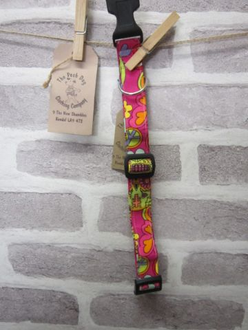 Handmade Posh Dog Collar 003 - adjustable fabric collar