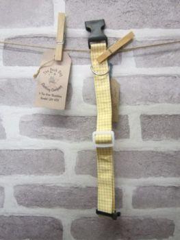 Handmade Posh Dog Collar 018 - adjustable fabric collar