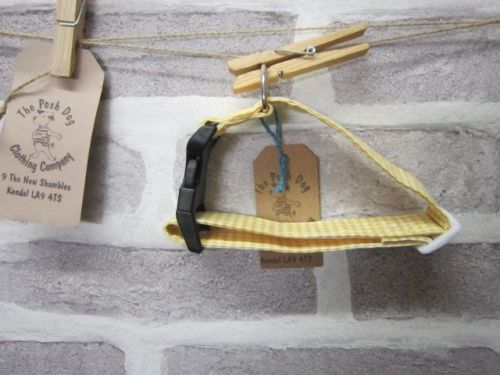 Handmade Posh Dog Collar 010 - adjustable fabric collar