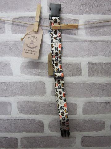 Handmade Posh Dog Collar 012 - adjustable fabric collar