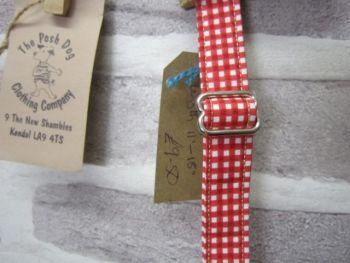 Handmade Posh Dog Collar 009 - adjustable fabric collar *