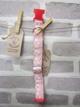 Handmade Posh Dog Collar 006 - adjustable fabric collar