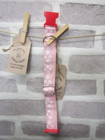 Handmade Posh Dog Collar 006 - adjustable fabric collar