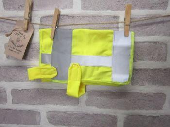 Posh Dog Clothing - handmade Hi-Vis safety vest - small - upcycled