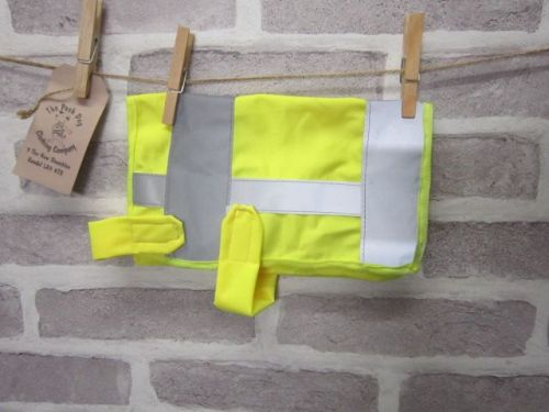 Posh Dog Clothing - handmade Hi-Vis safety vest - small - upcycled