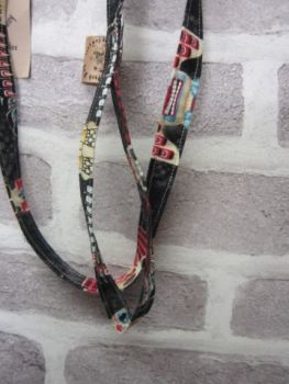 Handmade Posh Dog Lead 013 - fabric style