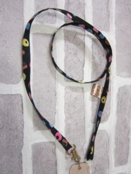 Handmade Posh Dog Lead 021 - fabric style