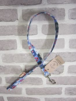 Handmade Posh Dog Lead 053 - fabric style