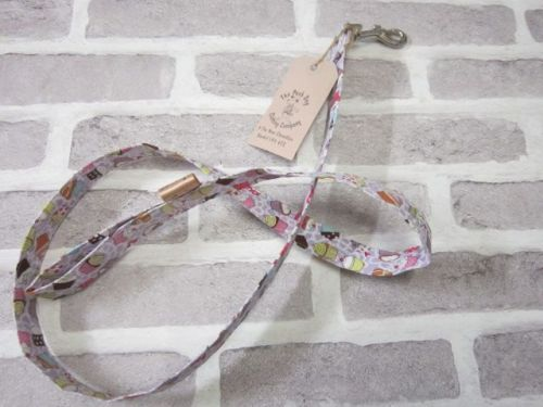 Handmade Posh Dog Lead 052 - fabric style
