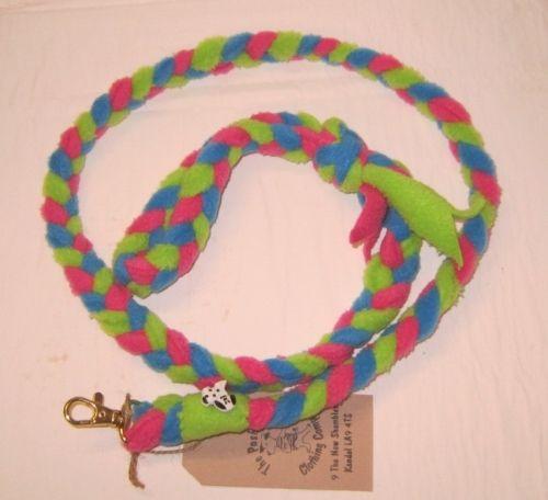 Handmade Posh Dog Lead 033 - Hand braided Fleece Lead