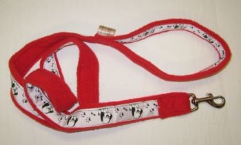 Handmade Posh Dog Lead 035 - Fleece / grosgrain Lead