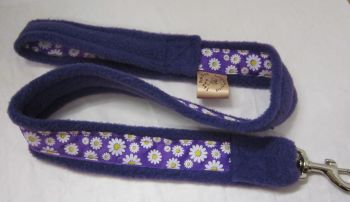 Handmade Posh Dog Lead 030 - Fleece / grosgrain Lead
