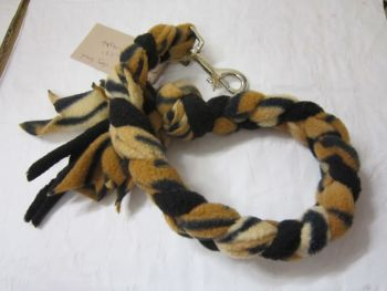 Handmade Posh Dog Lead 032 - Hand braided Fleece Lead