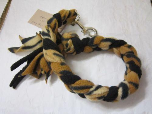 Handmade Posh Dog Lead 032 - Hand braided Fleece Lead