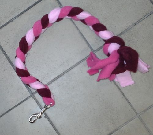 Handmade Posh Dog Lead 009 - Hand braided Fleece Lead