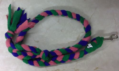Handmade Posh Dog Lead 008 - Hand braided Fleece Lead