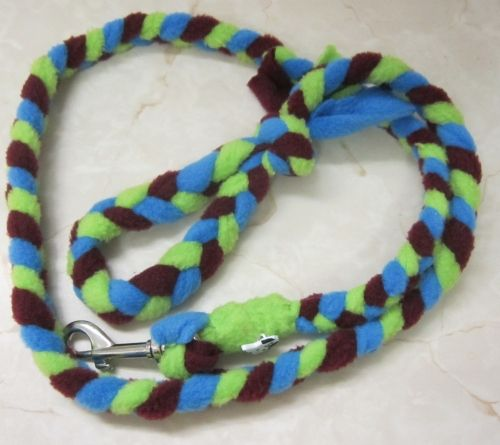 Handmade Posh Dog Lead 064 - Hand braided Fleece Lead