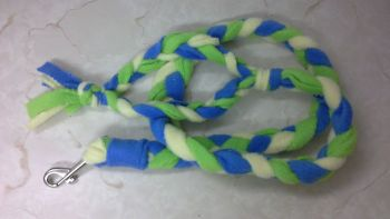 Handmade Posh Dog Lead 067 - Hand braided Fleece Lead