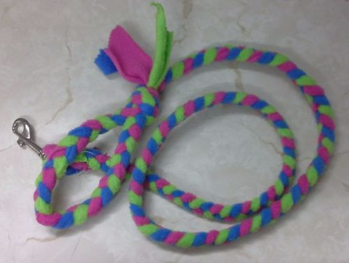 Handmade Posh Dog Lead 068 - Hand braided Fleece Lead