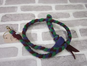 Handmade Posh Dog Lead 034 - Hand braided Fleece Lead