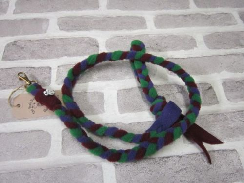 Handmade Posh Dog Lead 034 - Hand braided Fleece Lead