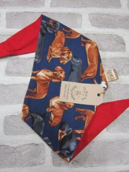 "Handmade Posh Dog Bandanna - 079 - Size 3 - fits up to neck size 22"""