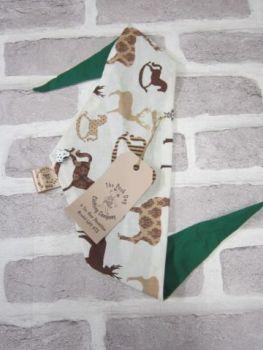 "Handmade Posh Dog Bandanna - 174 - Size 2 - fits up to neck size 15"""