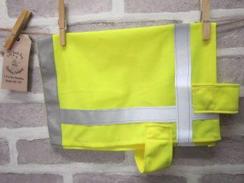 Posh Dog Clothing - handmade Hi-Vis safety vest - mediuum