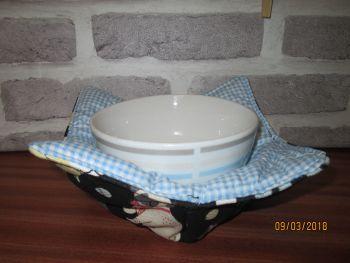 Posh Dog For You - handmade fabric bowl cosy 001