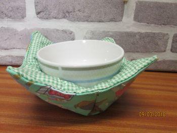 Posh Dog For You - handmade fabric bowl cosy 002