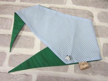 "Handmade Posh Dog Bandanna - 204 - Size 3 - fits up to neck size 22"""