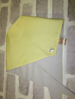 "Handmade Posh Dog Bandanna - 211 - Size 4 - fits up to neck size 27"""