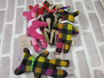 Handmade Posh Dog Toy - Lovie toy - Teddy shape