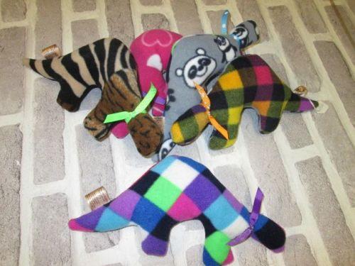Handmade Posh Dog Toy - Lovie toy - Dino shape