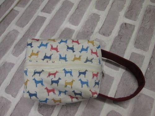 Posh Dog for you - box shape fabric bag 02
