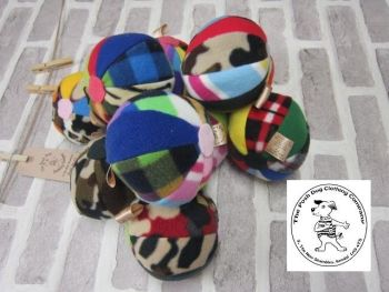 Handmade Posh Dog Toy - Multicoloured harlequin balls