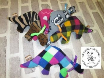 Handmade Posh Dog Toy - Lovie toy - Dino shape