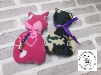 Handmade Posh Dog Toy - Lovie toy - Cat shape