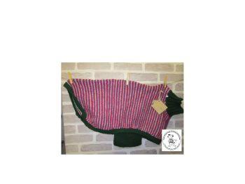 "Handmade Posh Dog Jumper - 023 - Pinstripes - length 28"" - chest 30"""