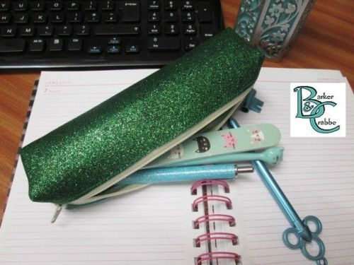 Long, slim, box shape pencil case - green