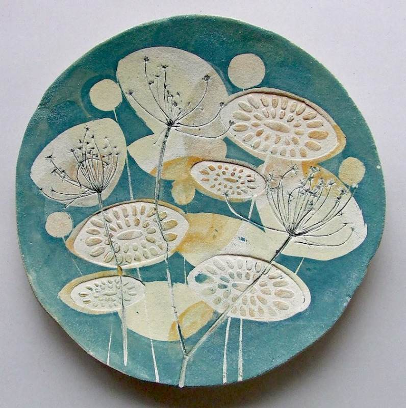 2015, Green Cow Parsley Platter