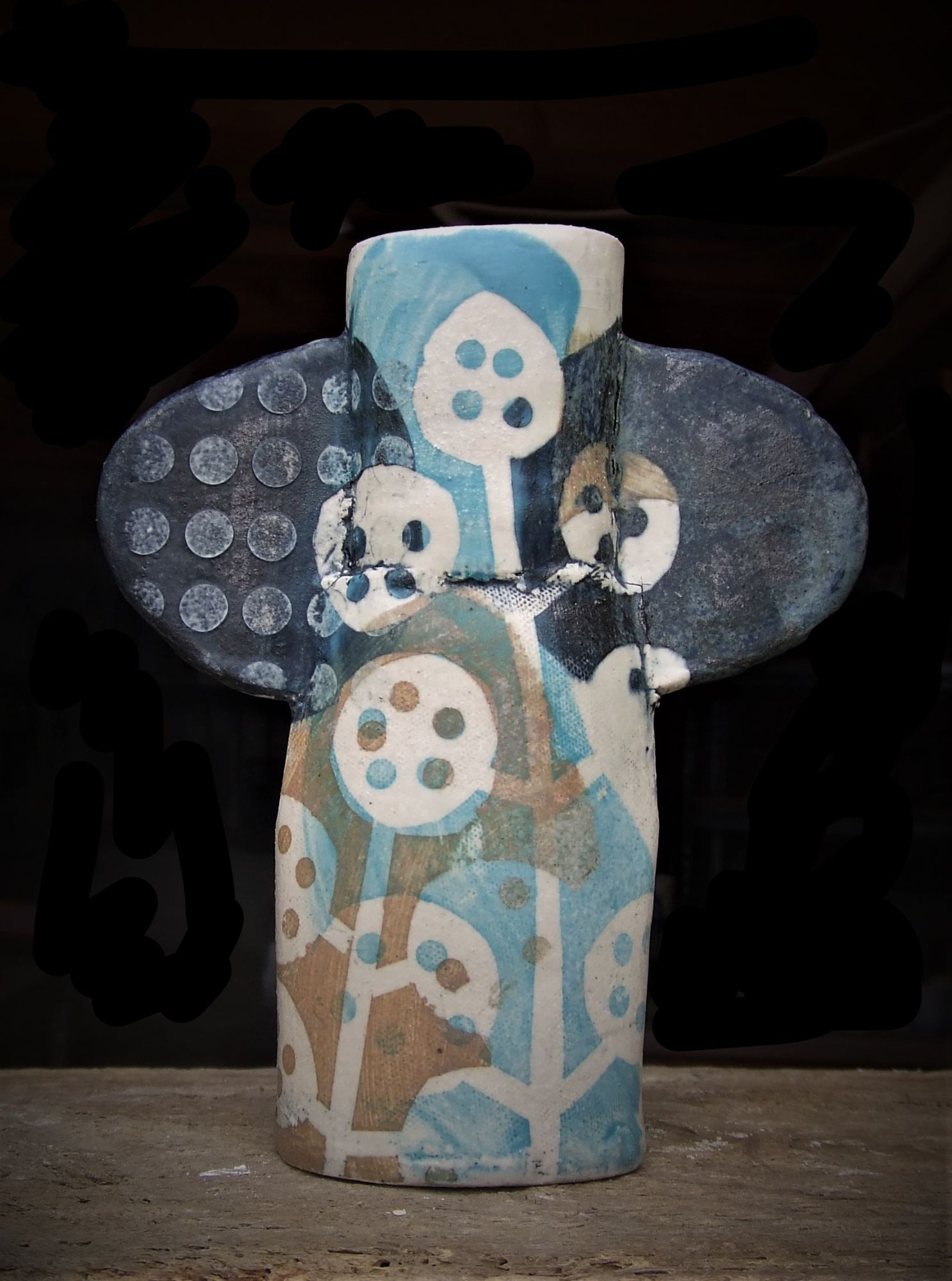 Totem Vase Blue