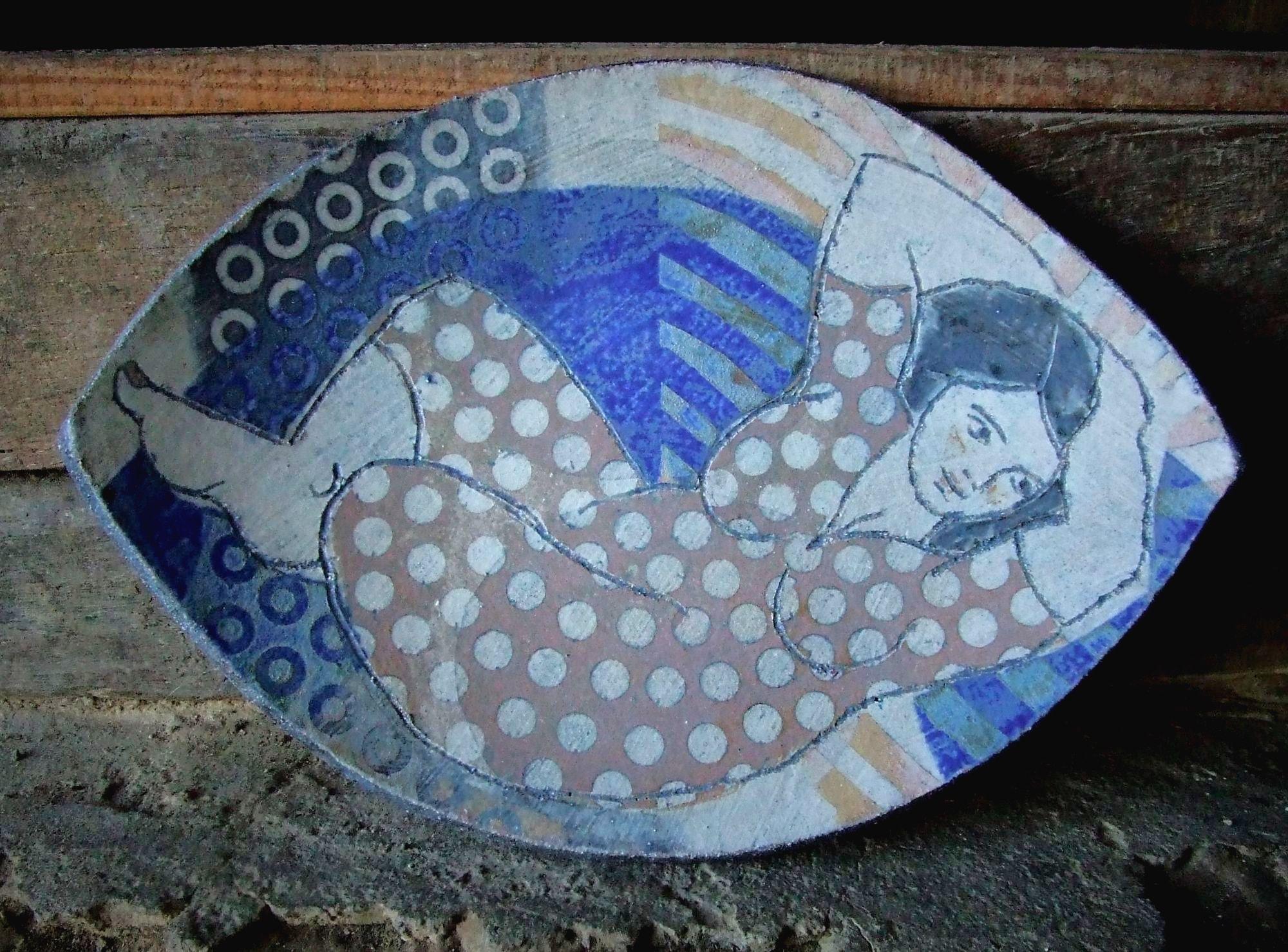 Cybele medium blue platter