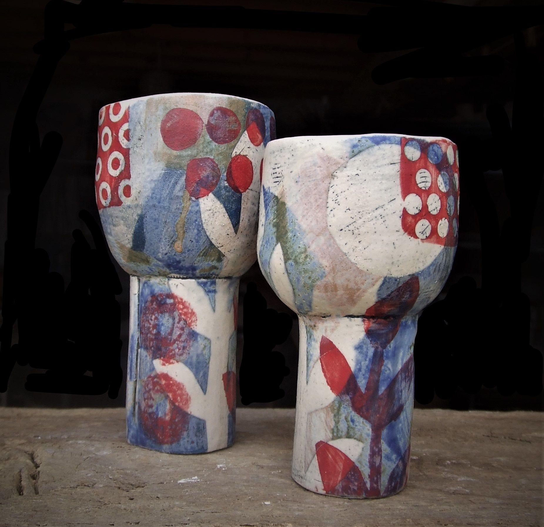 red spotty goblets