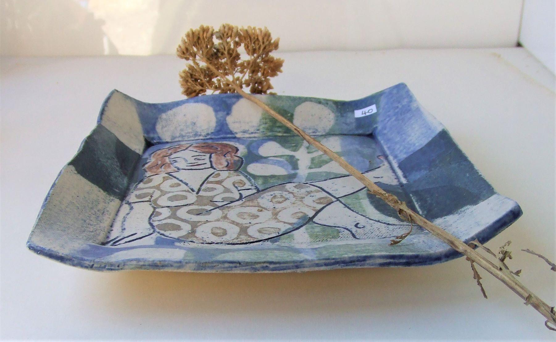 Cybele large gold platter