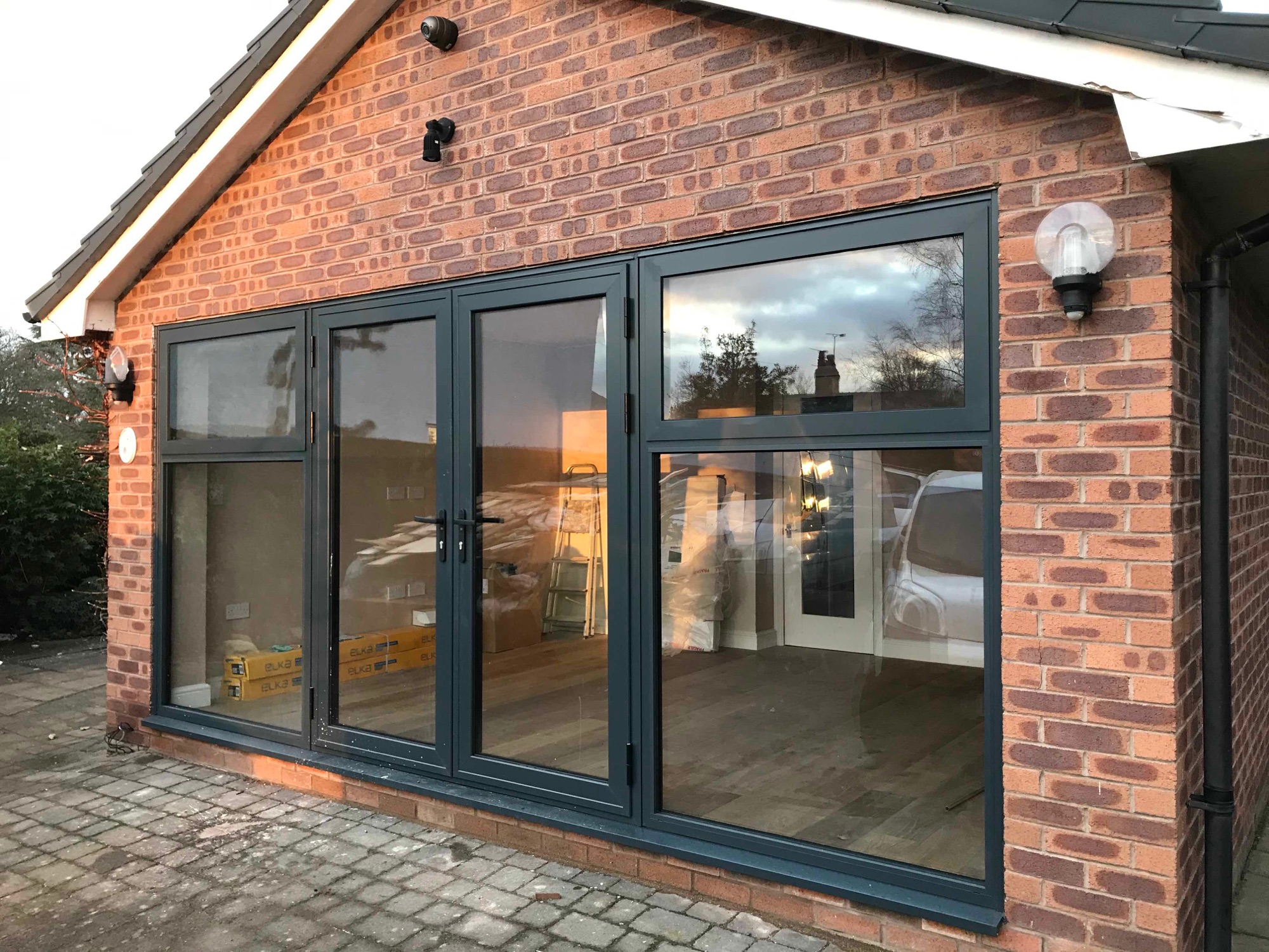Double garage conversion in Boughton