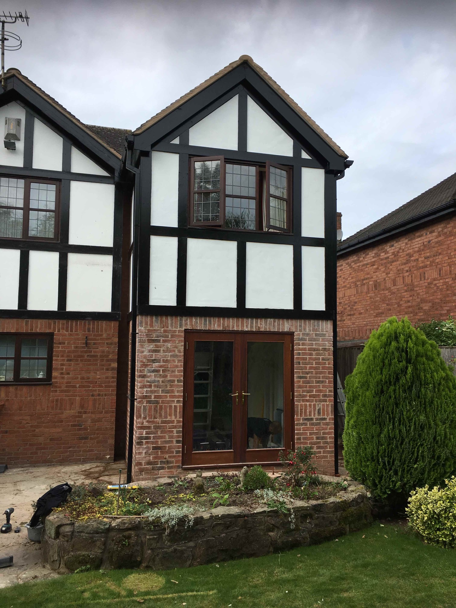 Two storey extension to house through floor lift