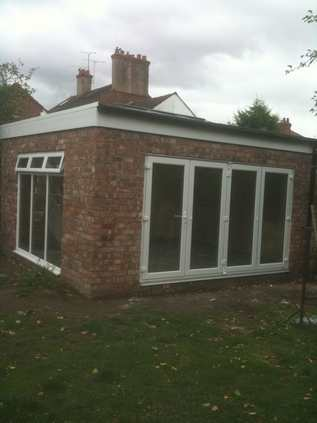 New build garden playroom in Chester